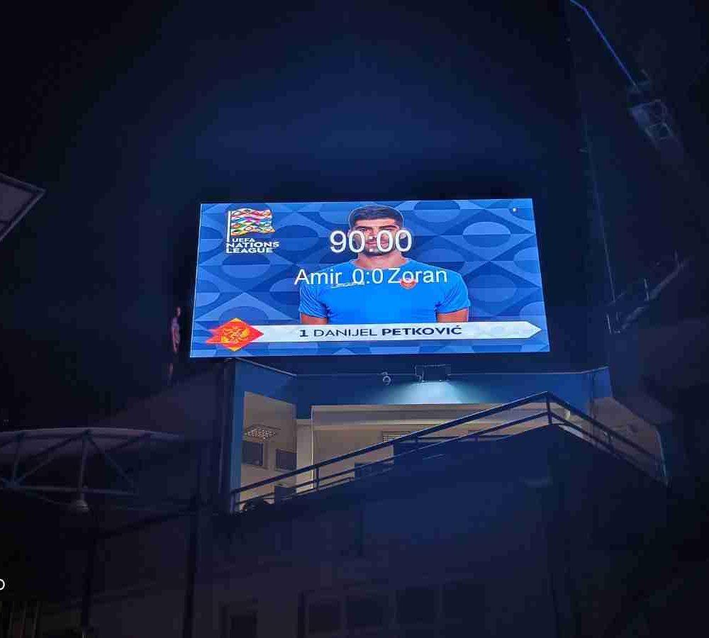 Stadium LED screen Podgorica fscg
